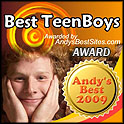 AndysBestSites.com Award Best TeenBoys Website